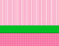 Roze, witte & groene gestreepte achtergrond Royalty-vrije Stock Afbeelding