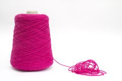 Roze wol royalty-vrije stock fotografie