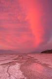 Roze wolken Royalty-vrije Stock Foto