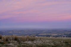 Roze wolkenlandschap Stock Afbeeldingen