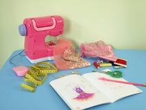 Roze workshop Stock Foto