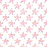 Roze zeester naadloos patroon royalty-vrije stock afbeeldingen