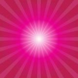 Roze zonnestraalachtergrond Stock Illustratie