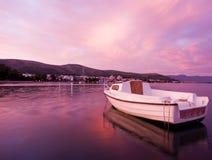 Roze zonsondergang Royalty-vrije Stock Afbeelding