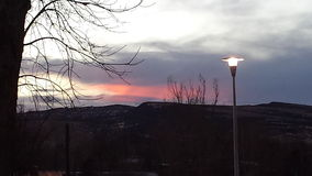 Roze Zonsondergang in Thermopolis, WY Stock Fotografie