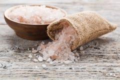 Roze zout royalty-vrije stock afbeelding