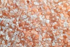 Roze zout van het Himalayagebergte - achtergrond. Royalty-vrije Stock Afbeelding