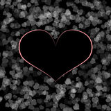Roze zwart hartontwerp Stock Foto