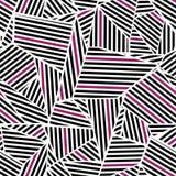 Roze in Zwart Patroon Royalty-vrije Stock Afbeelding