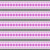 Roze, Zwart-witte Polka Dot Abstract Design Tile Pattern aangaande Royalty-vrije Stock Afbeeldingen