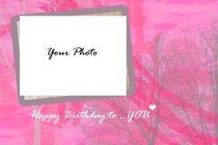 Rozeachtige Zoete Verjaardagskaart Royalty-vrije Stock Fotografie