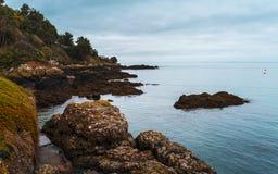 Rozel, débardeur, Îles Anglo-Normandes images libres de droits