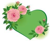 Rozen aan de Dag van de Valentijnskaart \ 's stock illustratie