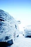 Rozen bil på vintern Arkivfoton
