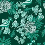 Rozen groen abstract naadloos patroon stock foto's