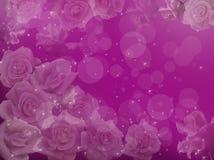 Rozen op een violette achtergrond stock illustratie