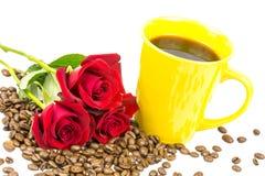 Rozen 4 van de Coffeebeanskop Stock Foto