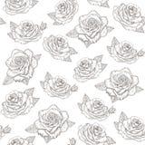 Rozen Vectorpatroon Royalty-vrije Stock Afbeelding