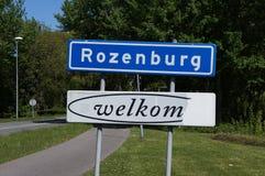 Rozenburg i Nederländerna Arkivbild