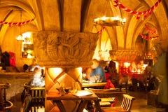 Rozengrals restaurant in Riga. Rozengrals - Middle ages restaurant in the center of the Old Riga Royalty Free Stock Photography