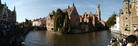 Rozenhoedkaa, Bruges imagens de stock