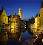 Rozenhoedkaai, één van de oriëntatiepunten in Brugge Royalty-vrije Stock Afbeelding