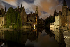 Rozenhoedkaai Bruges Royalty Free Stock Images