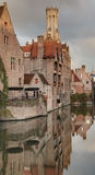 Rozenhoedkaai Bruges Photo libre de droits