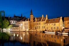 Rozenhoedkaai in Bruges, Belgium Stock Image
