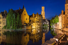 Rozenhoedkaai Bruges Belgium Stock Photography