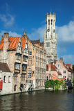 Rozenhoedkaai, Bruges in Belgium Royalty Free Stock Photos
