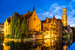 Rozenhoedkaai, Bruges nel Belgio Immagine Stock