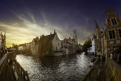 Rozenhoedkaai Brujas Bélgica Imagenes de archivo