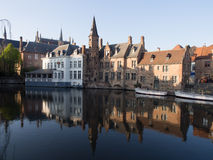 Rozenhoedkaai Canal in Bruges Stock Photography