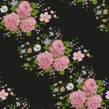 Rozenpatronen Bloemen, naadloos patroon Royalty-vrije Stock Afbeeldingen
