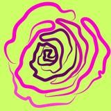 Rozerood, vector, illustratie, groene achtergrond, silhouet, stijl, schoonheid, hartstocht stock illustratie