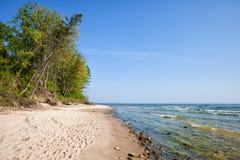 Rozewie Beach at Baltic Sea in Poland Royalty Free Stock Photos