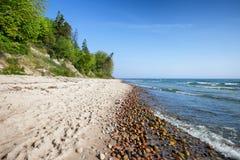 Rozewie Beach on Baltic Sea in Poland Royalty Free Stock Photos