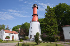 Rozewie Lighthouse in Poland Stock Photo