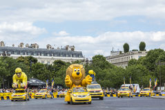Rozgłos karawana w Paryż - tour de france 2016 Obrazy Royalty Free