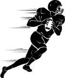 Rozgrywającego gracz futbolu w pośpiechu ilustracja wektor
