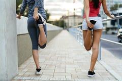 Rozgrzewkowy dla jogging up zdjęcie stock