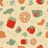 Rozgrzewkowy thingsv, tło, ilustracja Obrazy Stock