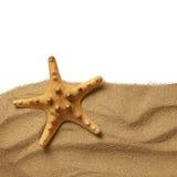 Rozgwiazda na plażowym piasku fotografia stock