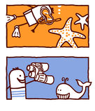 rozgwiazda wieloryb Zdjęcia Stock
