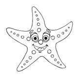 Rozgwiazdy konturowa linia na bielu Zdjęcia Royalty Free
