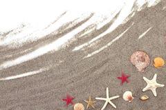 Rozgwiazdy na plażowym piasku Zdjęcia Royalty Free