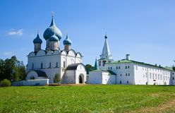 Rozhdestvenskiy temple at Suzdal Royalty Free Stock Photo