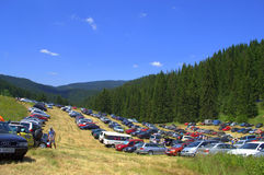 Rozhen Fair site parking,Bulgaria Royalty Free Stock Photography