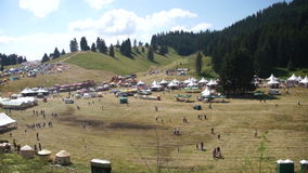 Rozhen festival field 2015 in Bulgaria stock video